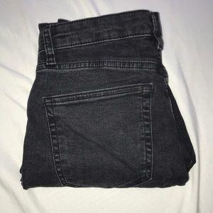 Washed black denim Jamie jeans top shop